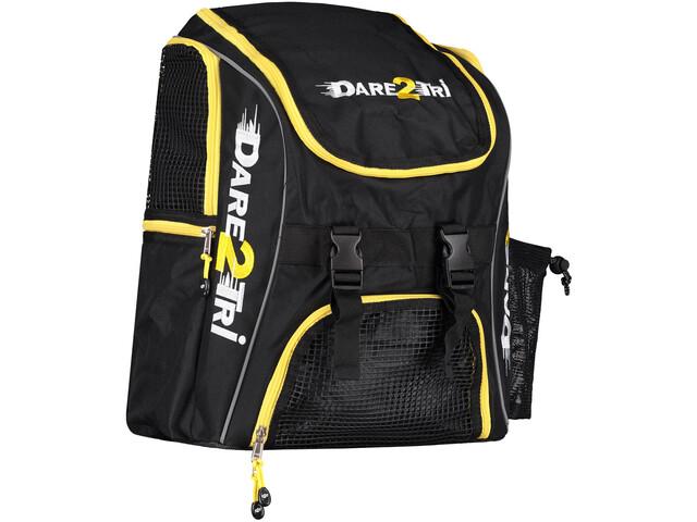 Dare2Tri Transition Mochila 23L, black/yellow